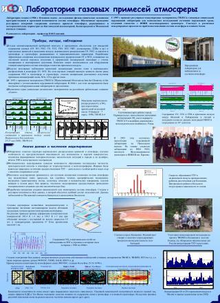 Лаборатория газовых примесей атмосферы