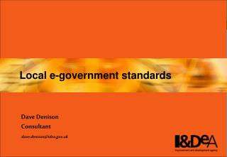 Local e-government standards