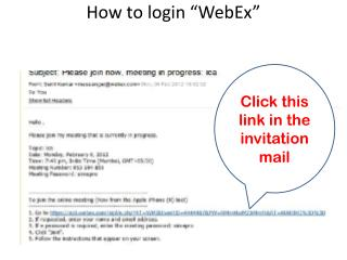 How to login �WebEx�