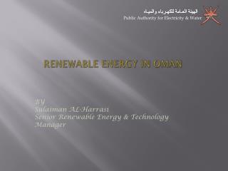 RENEWABLE ENERGY IN OMAN
