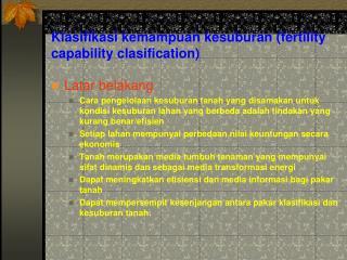 Klasifikasi kemampuan kesuburan (fertility capability clasification)