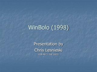 WinBolo (1998)