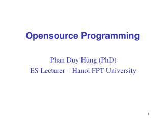 Opensource Programming