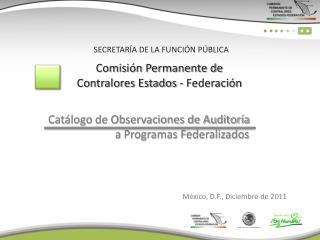 Comisión Permanente de Contralores Estados - Federación