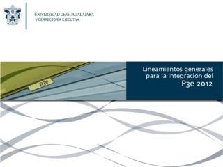 Consideraciones generales P3e 2012