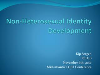Non-Heterosexual Identity Development