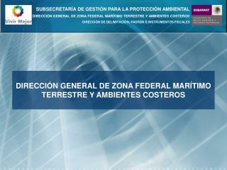 DIRECCIÓN GENERAL DE ZONA FEDERAL MARÍTIMO TERRESTRE Y AMBIENTES COSTEROS