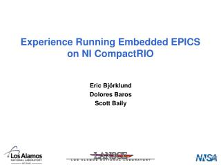 Experience Running Embedded EPICS on NI CompactRIO