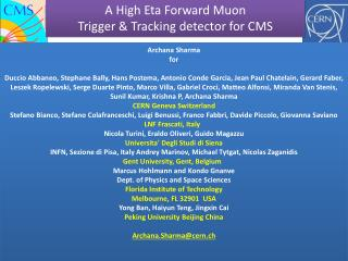 A  High Eta Forward  Muon Trigger  & Tracking  detector for CMS