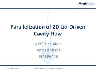 Parallelization of 2D Lid-Driven Cavity Flow