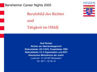 Bensheimer Career Nights 2005