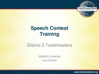 Speech Contest  Training