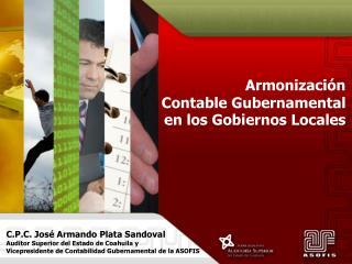 Armonización  Contable Gubernamental  en los Gobiernos Locales