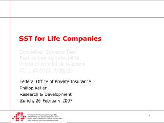 SST for Life Companies