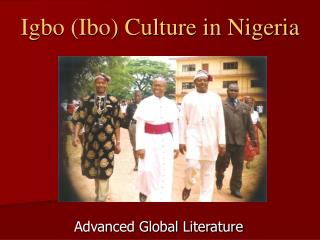 Igbo (Ibo) Culture in Nigeria