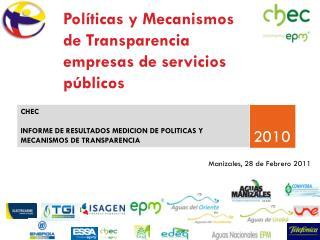 Pol ticas y Mecanismos de Transparencia empresas de servicios p blicos