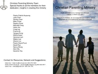 Christian Parenting Ministry