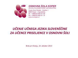 Brdo pri Kranju, 10. oktober 2013