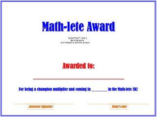 Math-lete Award