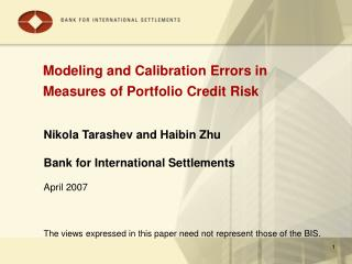 Modeling and Calibration Errors in Measures of Portfolio Credit Risk
