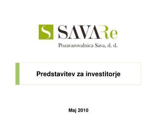 Predstavitev za investitorje