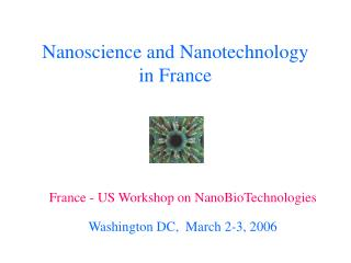 Nanoscience and Nanotechnology in France
