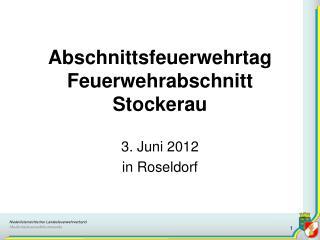Abschnittsfeuerwehrtag Feuerwehrabschnitt Stockerau