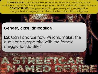 Gender, class,  dislocation