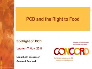 PCD and the Right to Food