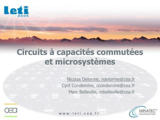 Circuits à capacités commutées et microsystèmes