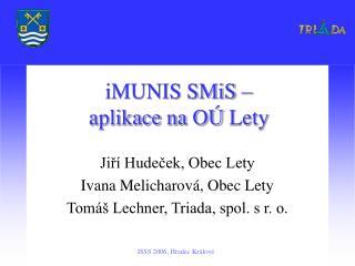 iMUNIS SMiS –  aplikace na OÚLety