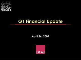 Q1 Financial Update