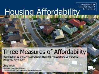 Three Measures of Affordability