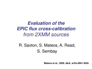 Evaluation of the  EPIC flux cross-calibration from 2XMM sources