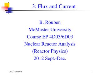 3: Flux and Current