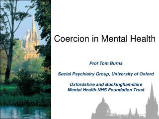 Coercion in Mental Health