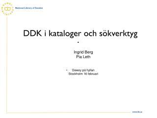 DDK i kataloger och sökverktyg