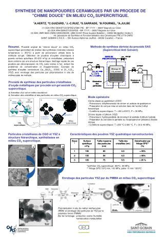 Enrobage des particules YSZ par du PMMA en milieu CO 2  supercritique