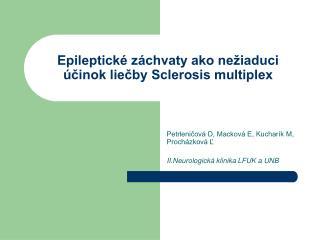 Epileptické záchvaty ako nežiaduci účinok liečby Sclerosis multiplex