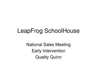 LeapFrog SchoolHouse