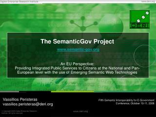 The SemanticGov Project semantic-gov