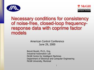 American Control Conference June 29, 2000