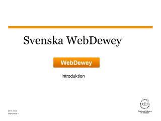 Svenska WebDewey