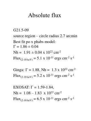 Absolute flux