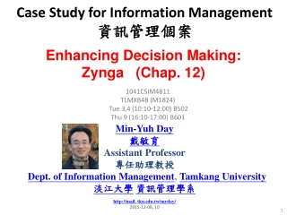 Chapter 12 Decision Support and Geographic Information Systems
