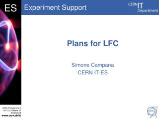 Plans for LFC