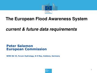 The European Flood Awareness System current & future data requirements