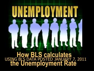 How BLS calculates the Unemployment Rate