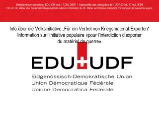 Information von / de  M. Wäfler über /sur: