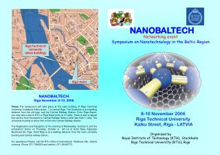 Networking event Symposium on Nanotechnology in the Baltic Region Organized by